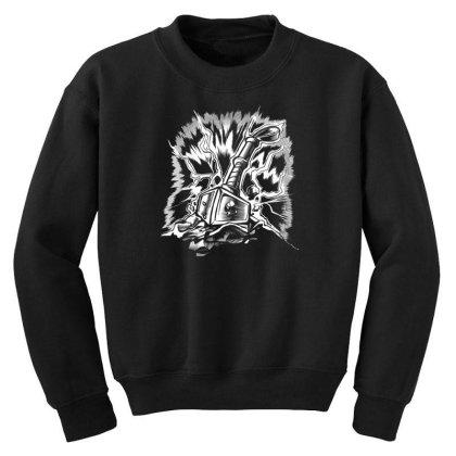 Viking Hammer Youth Sweatshirt Designed By Dirjaart