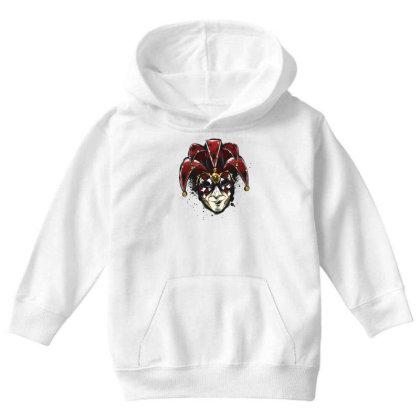 Venetian Mask Youth Hoodie Designed By Dirjaart