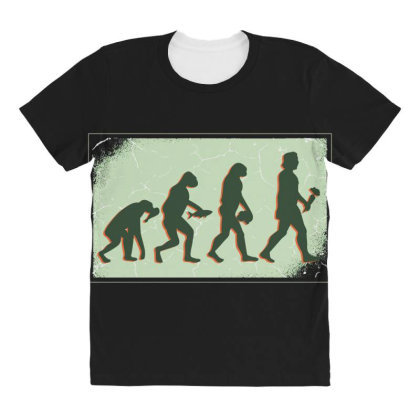 Vegan Evolution All Over Women's T-shirt Designed By Dirjaart