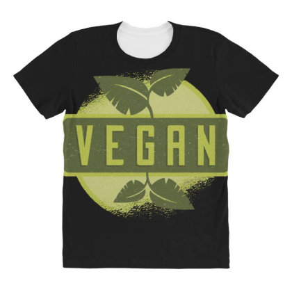 Vegan All Over Women's T-shirt Designed By Dirjaart