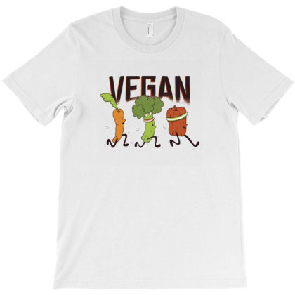 Vegan Runners T-shirt Designed By Dirjaart