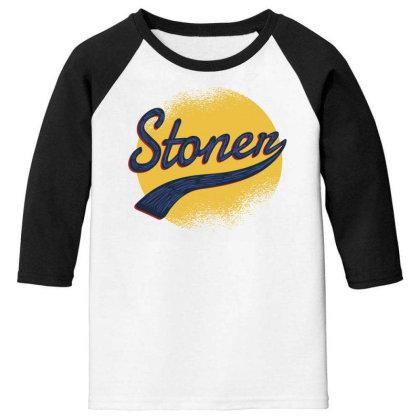Vintage Stoner Youth 3/4 Sleeve Designed By Dirjaart