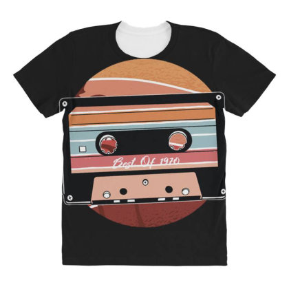 Vintage Cassette All Over Women's T-shirt Designed By Dirjaart