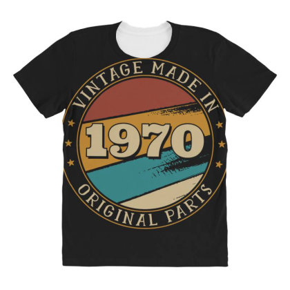 Vintage Birthday All Over Women's T-shirt Designed By Dirjaart