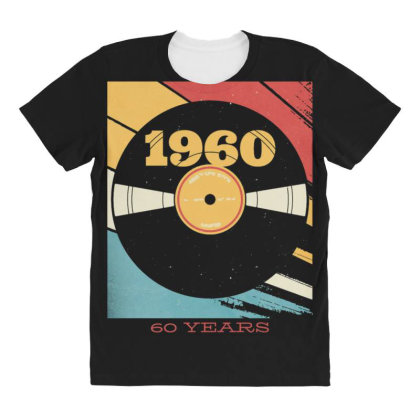 Vynil Years All Over Women's T-shirt Designed By Dirjaart