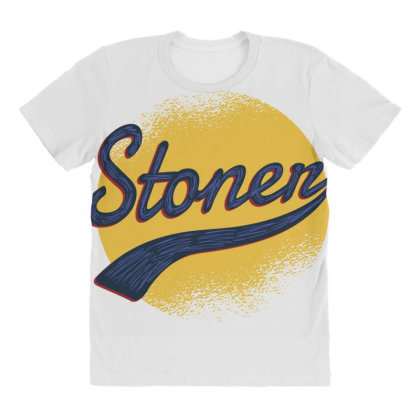 Vintage Stoner All Over Women's T-shirt Designed By Dirjaart