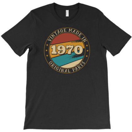 Vintage Birthday T-shirt Designed By Dirjaart