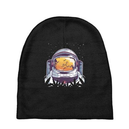 Weed Astronaut Baby Beanies Designed By Dirjaart