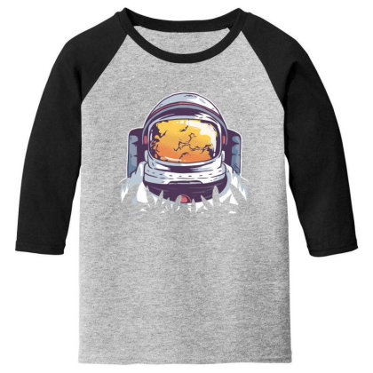Weed Astronaut Youth 3/4 Sleeve Designed By Dirjaart