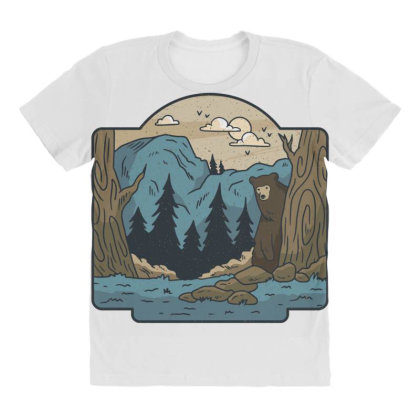 Wilderness All Over Women's T-shirt Designed By Dirjaart