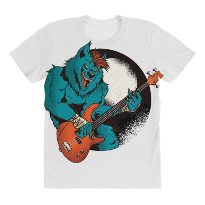 Werewolf Guitarist All Over Women's T-shirt Designed By Dirjaart