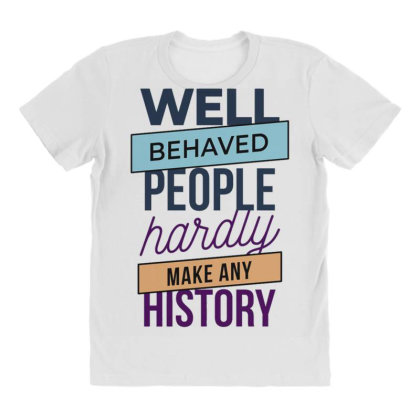 Well Behaved All Over Women's T-shirt Designed By Dirjaart