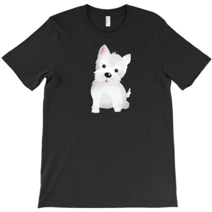 Westie Dog Cute T-shirt Designed By Dirjaart