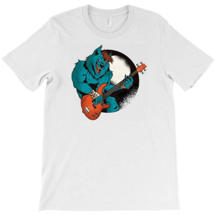 Werewolf Guitarist T-shirt Designed By Dirjaart