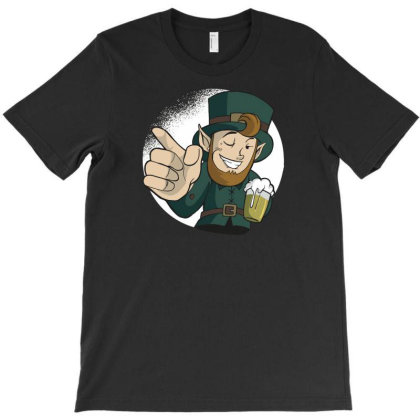 Winking Leprechaun T-shirt Designed By Dirjaart