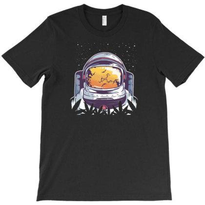 Weed Astronaut T-shirt Designed By Dirjaart