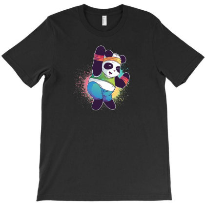 Zumba Panda T-shirt Designed By Dirjaart