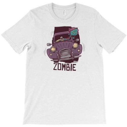 Zombie Driver T-shirt Designed By Dirjaart