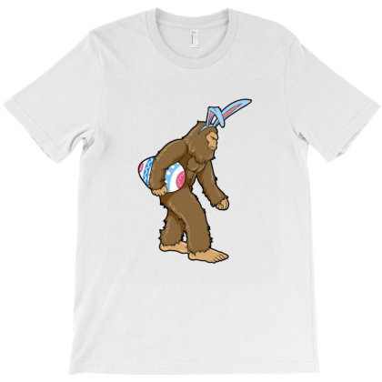 Bigfoot Hunting Eggs Funny Easter T-shirt Designed By Hoainv