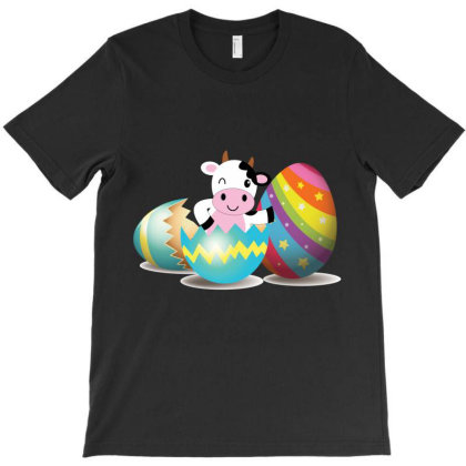 Cow Easter Egg T-shirt Designed By Hoainv