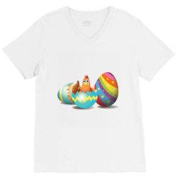 chicken easter egg V-Neck Tee | Artistshot