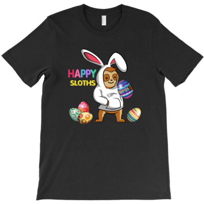 Happy Sloths Easter Eggs T-shirt Designed By Hoainv