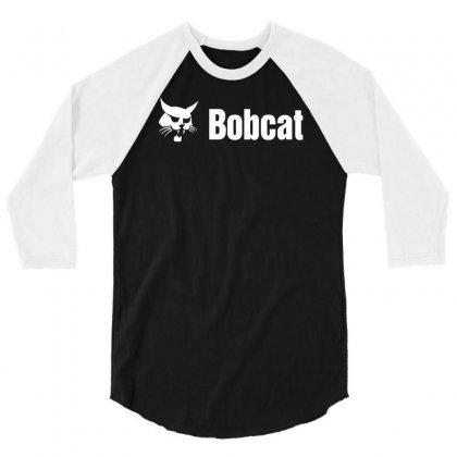 Bobcat 3/4 Sleeve Shirt Designed By Mdk Art