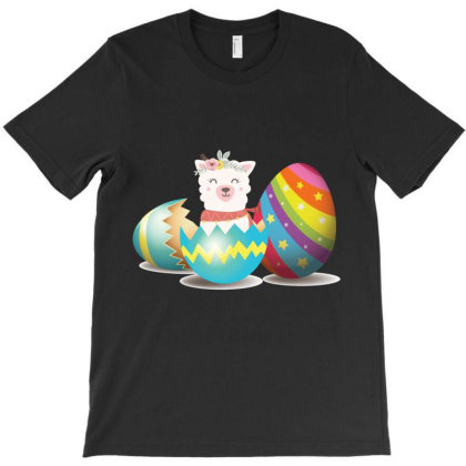 Llama Easter Egg T-shirt Designed By Hoainv
