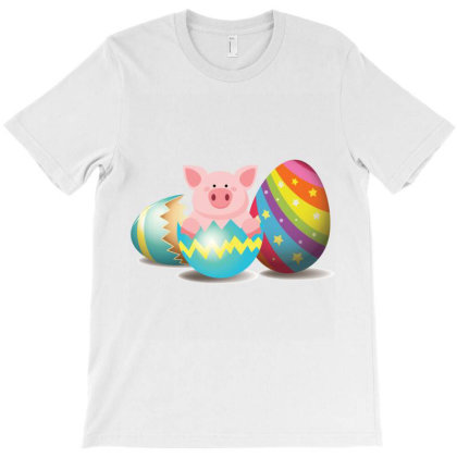 Pig Easter Egg T-shirt Designed By Hoainv