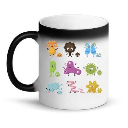 Bacteria Cartoon Microorganism Clip Art Abstract Magic Mug Designed By Salmanaz
