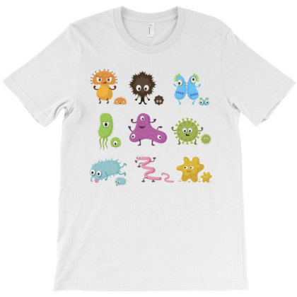 Bacteria Cartoon Microorganism Clip Art Abstract T-shirt Designed By Salmanaz