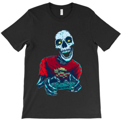 Art Drawing Illustration Skeleton Skull T-shirt Designed By Salmanaz