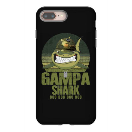 Gampa Shark Doo Doo Army Veteran Father Day 4th Of July Iphone 8 Plus Case Designed By Badaudesign