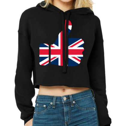 England Like Cropped Hoodie Designed By Estore