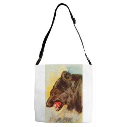 Bear Picture Adjustable Strap Totes Designed By Estore
