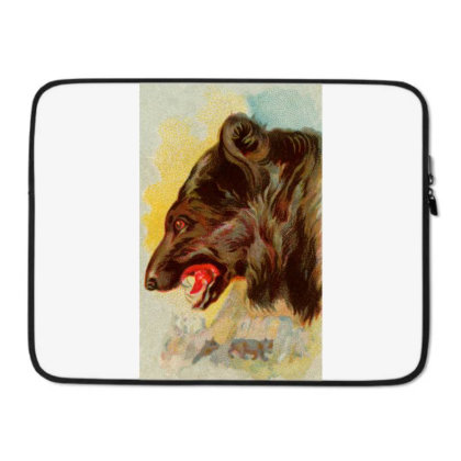 Bear Picture Laptop Sleeve Designed By Estore