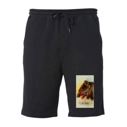 Bear Picture Fleece Short Designed By Estore
