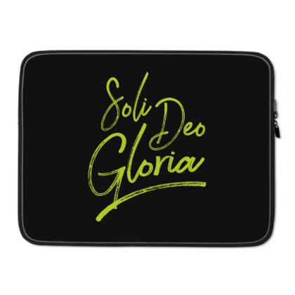 Soli Deo Gloria Laptop Sleeve Designed By Estore