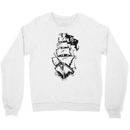 Ship Crewneck Sweatshirt Designed By Estore
