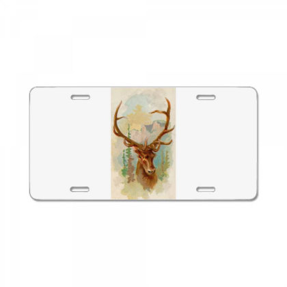 Deer Picture License Plate Designed By Estore