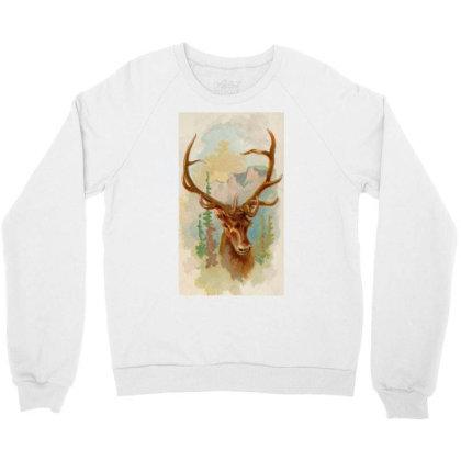 Deer Picture Crewneck Sweatshirt Designed By Estore