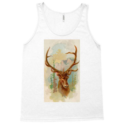 Deer Picture Tank Top Designed By Estore