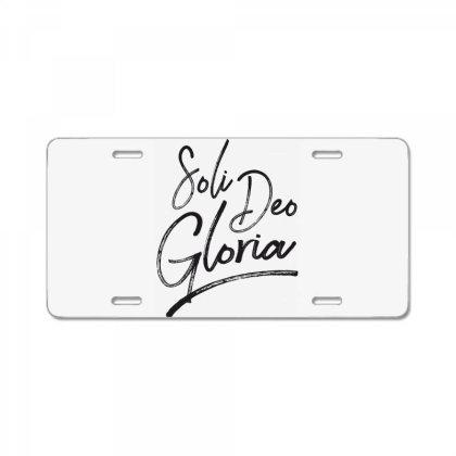 Soli Deo Gloria License Plate Designed By Estore