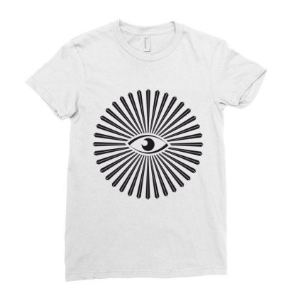 Eyes Ladies Fitted T-shirt Designed By Estore