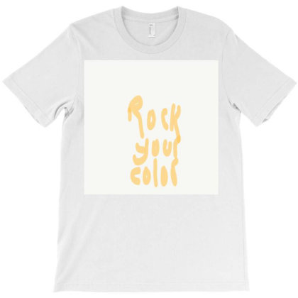 Rock Your Color T-shirt Designed By Kiss