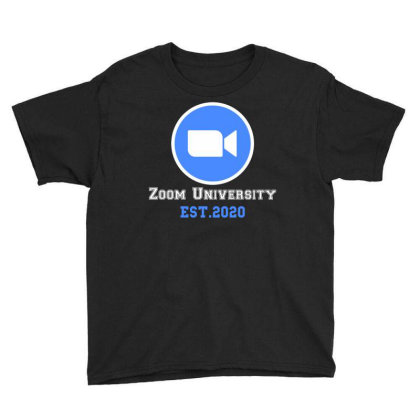 Zoom University | White Youth Tee Designed By Redberries