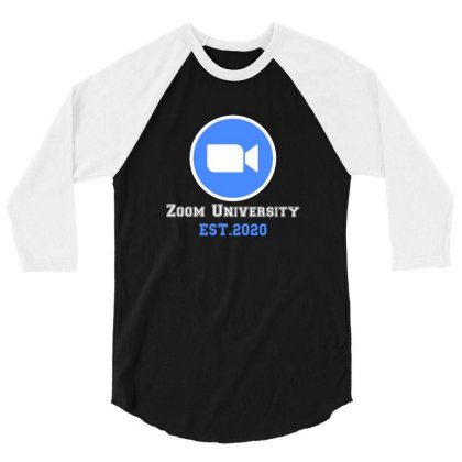 Zoom University | White 3/4 Sleeve Shirt Designed By Redberries