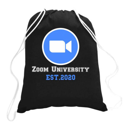 Zoom University | White Drawstring Bags Designed By Redberries