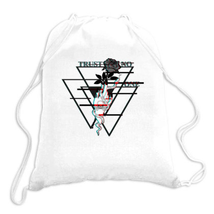 Trust No One Drawstring Bags Designed By 90stings