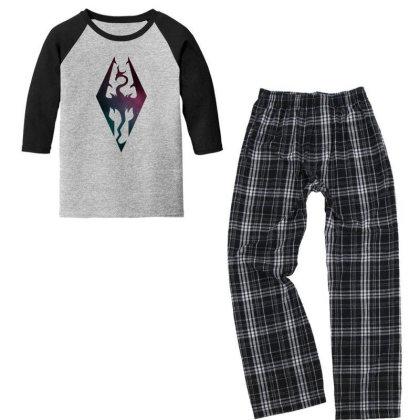 Skyrim Galaxy Youth 3/4 Sleeve Pajama Set Designed By 90stings
